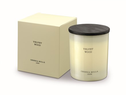 Boutique Candle 8oz Velvet Wood 5540