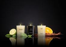 Luxury Gift Set 3x2.4oz Bergamotto di Calabria, Basil&Mandarin, Velvet wood SETS3MJ1