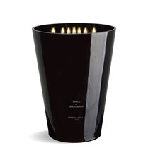 7 wick 3XL Candle 15.4 lb Basil & Mandarin Black X5009
