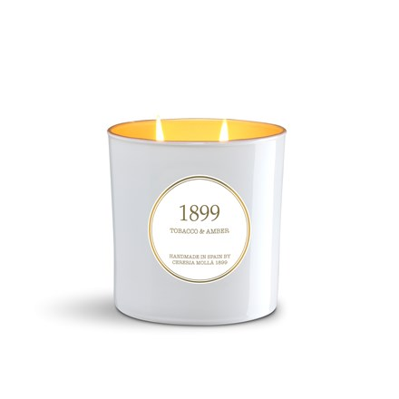 Gold Edition 2 wick Candle 21oz Tobacco & Amber 6661
