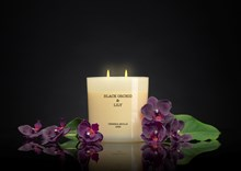 Boutique 2 wick XL Candle 21oz Black Orchid & Lily 6643